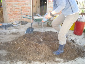 堆肥二次処理 水分調整